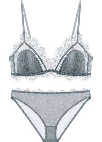 Bra Sets . French Underwear Triangle Cup Set without Ring -