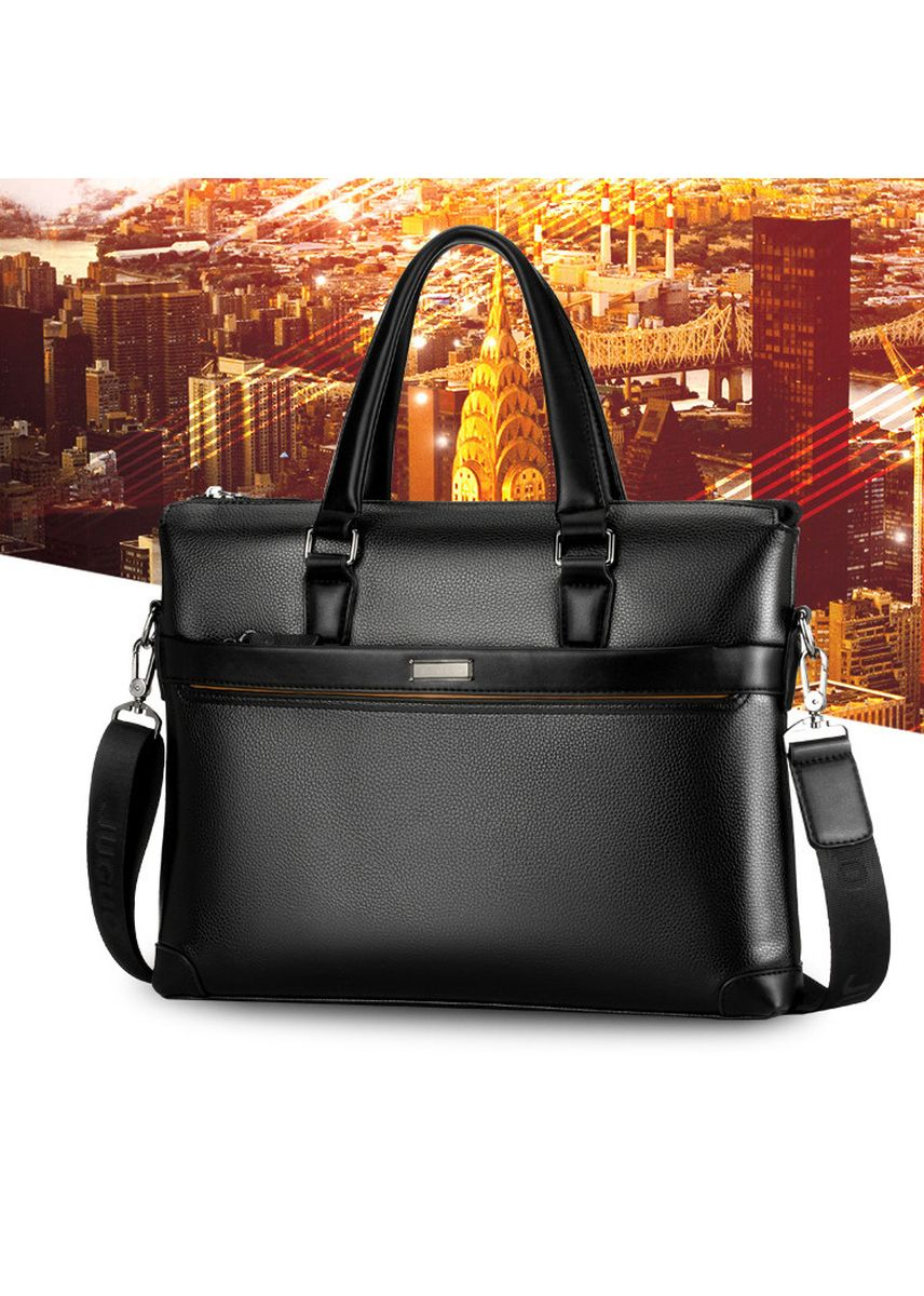 Black color Messenger Bags . Leather Briefcase Laptop Handbag Messenger Business Bags for Men -