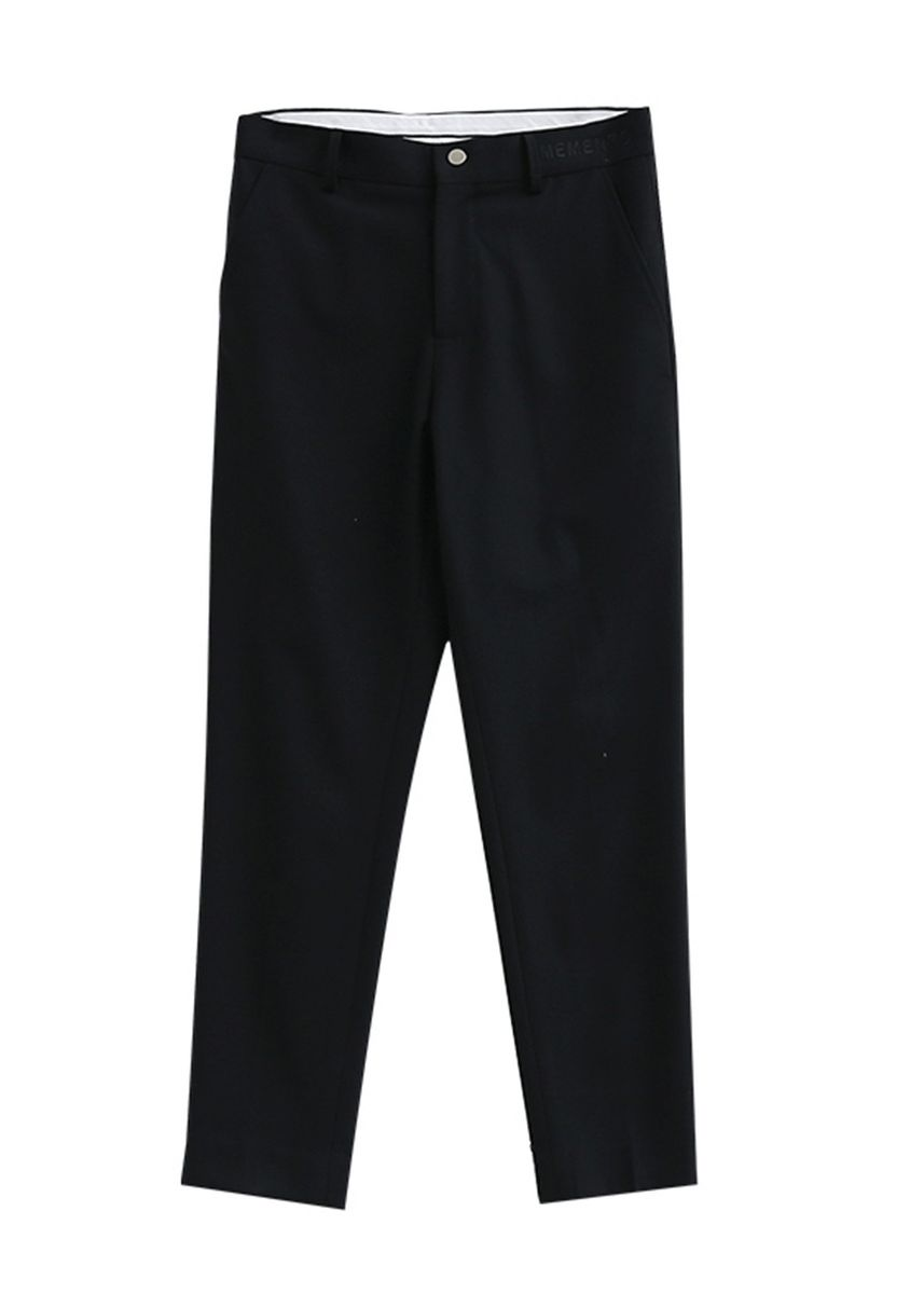 Black color Formal Trousers . Black Personality Casual Pants Male -