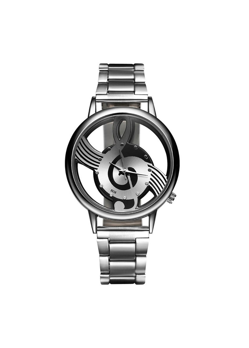 Silver color Analog . Business fashion casual men's steel belt watch -