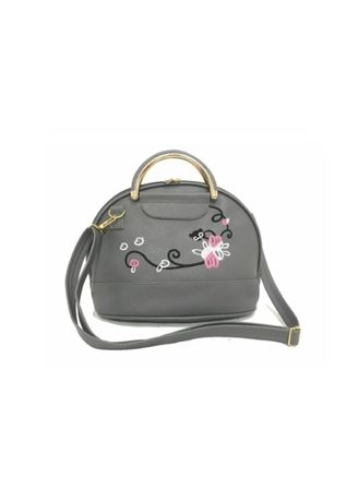 Grey color Hand Bags . Tas Selempang Wanita POCU Cat -