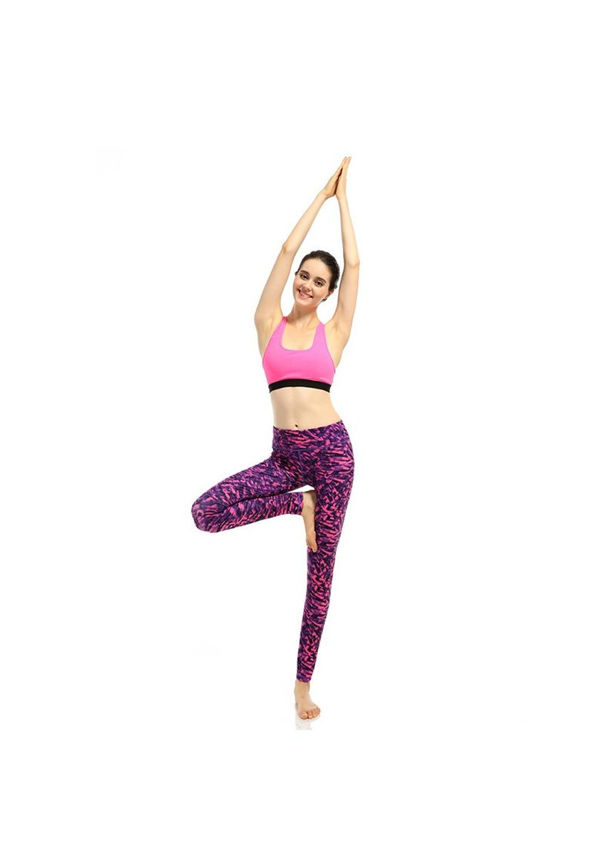 Purple color Leggings . Digital Printing Sports Yoga Pants -