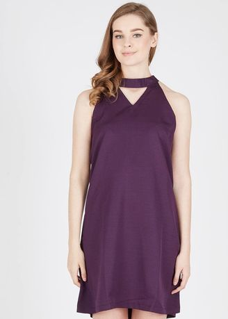 Purple color Dresses . BERRYBENKA Hallye Dress Purple -