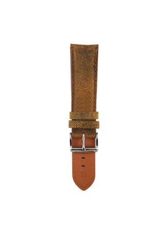 . Aries Gold Distressed Ag-L0007 Leather Strap -