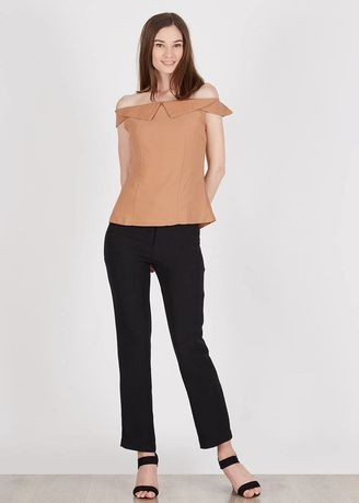 White color Tops and Tunics . BERRYBENKA Indrani Beige Top -