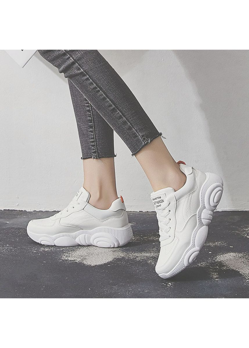 White color Sports Shoes . Women's Sneaker Casual Shoes -