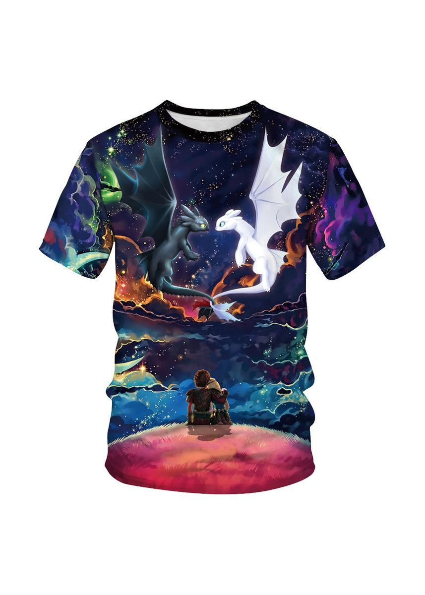 Multi color Tees & Shirts . Women's Printed Couple T-shirt -