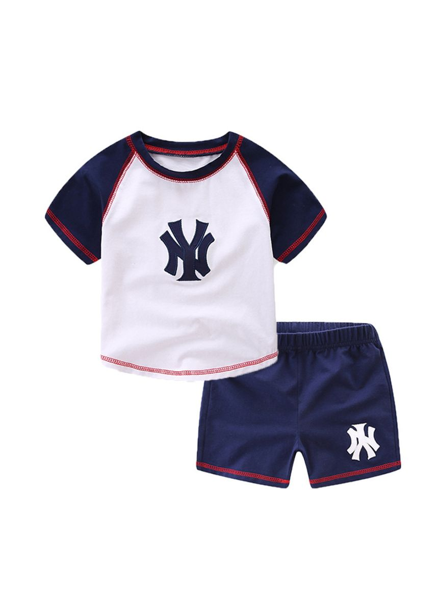 ขาว color ชุด . Children's Wear M*B Boys And Girls T-shirt Two-piece O'Dell Baby Suit -