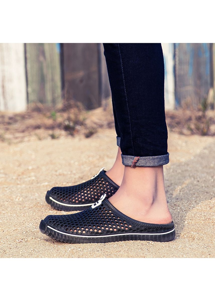 Black color Sandals and Slippers . Female male candy color summer colorful sandals -