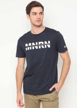 Navy color T-Shirts and Polos . Minarno M N R N S/S Tee -