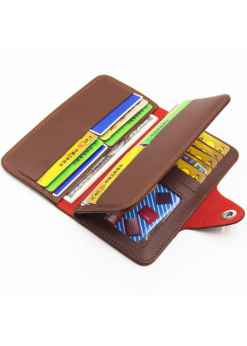 Brown color Wallets . Men's Long Wallet Fashion Business Large Capacity Multi-function -