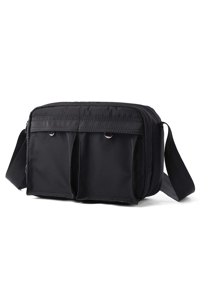Black color Messenger Bags . Canvas Men's Messenger Bag Retro Casual Shoulder Nylon Waterproof -