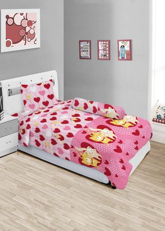 Merah Muda color Kamar Tidur . Sprei Lady Rose Single ( 120 x 200 ) - CAT LOVE -