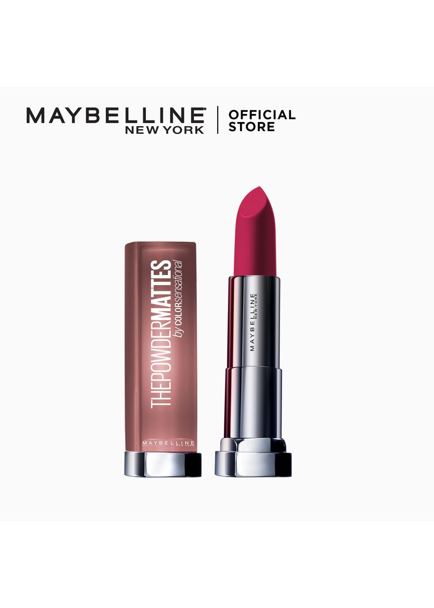 Pink color Lips . Maybelline Color Sensational Powder Matte Lipstick -