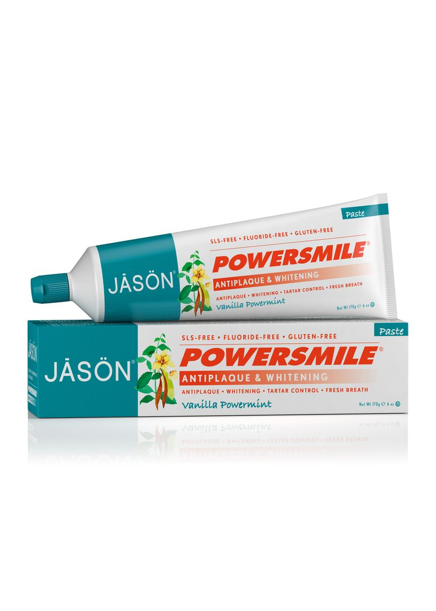 No Color color Personal Care . [Bundle of 2] Jason Powersmile Antiplaque And Whitening Vanilla Powermint Toothpaste 170g -
