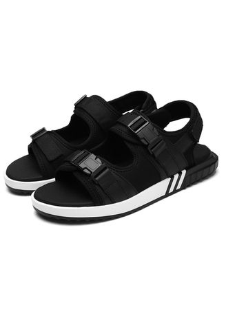 Black color Sandals and Slippers . Unisex Daily Casual Strap Lycra Outdoor Sandal -