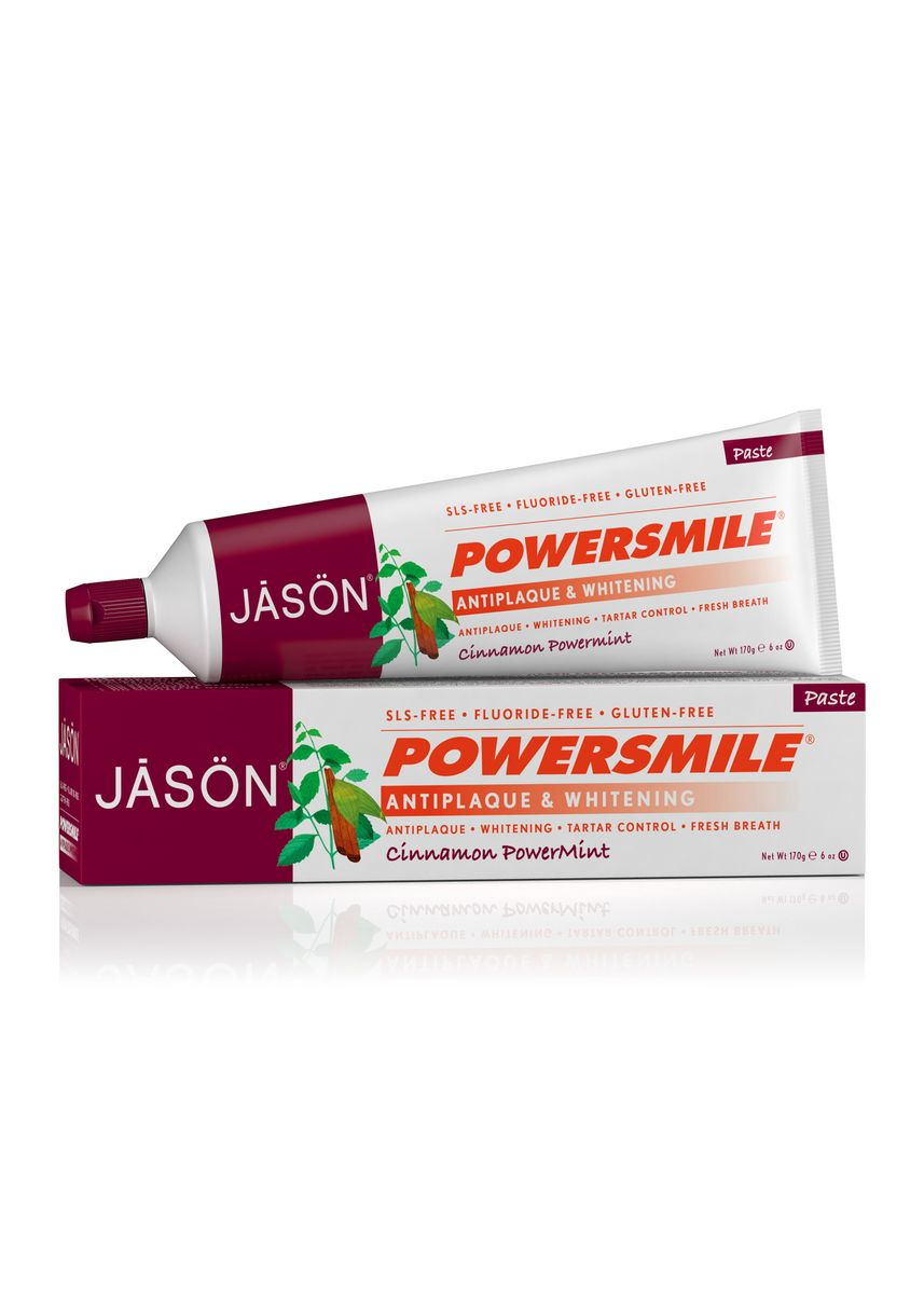 No Color color Personal Care . [Bundle of 2] Jason Powersmile Antiplaque And Whitening Cinnamon Powermint Toothpaste 170g  -