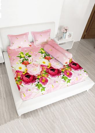 Pink color Bedroom . Lady rose sprei (180x200) 2 bantal - FRESIA -