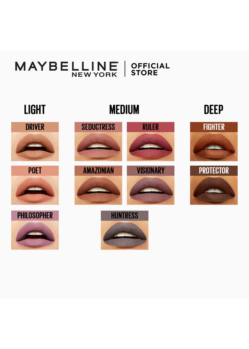 Pink color Lips . SuperStay Matte Ink Un-Nude Liquid Lipstick - Seductress [16HR Waterproof] by Maybelline -