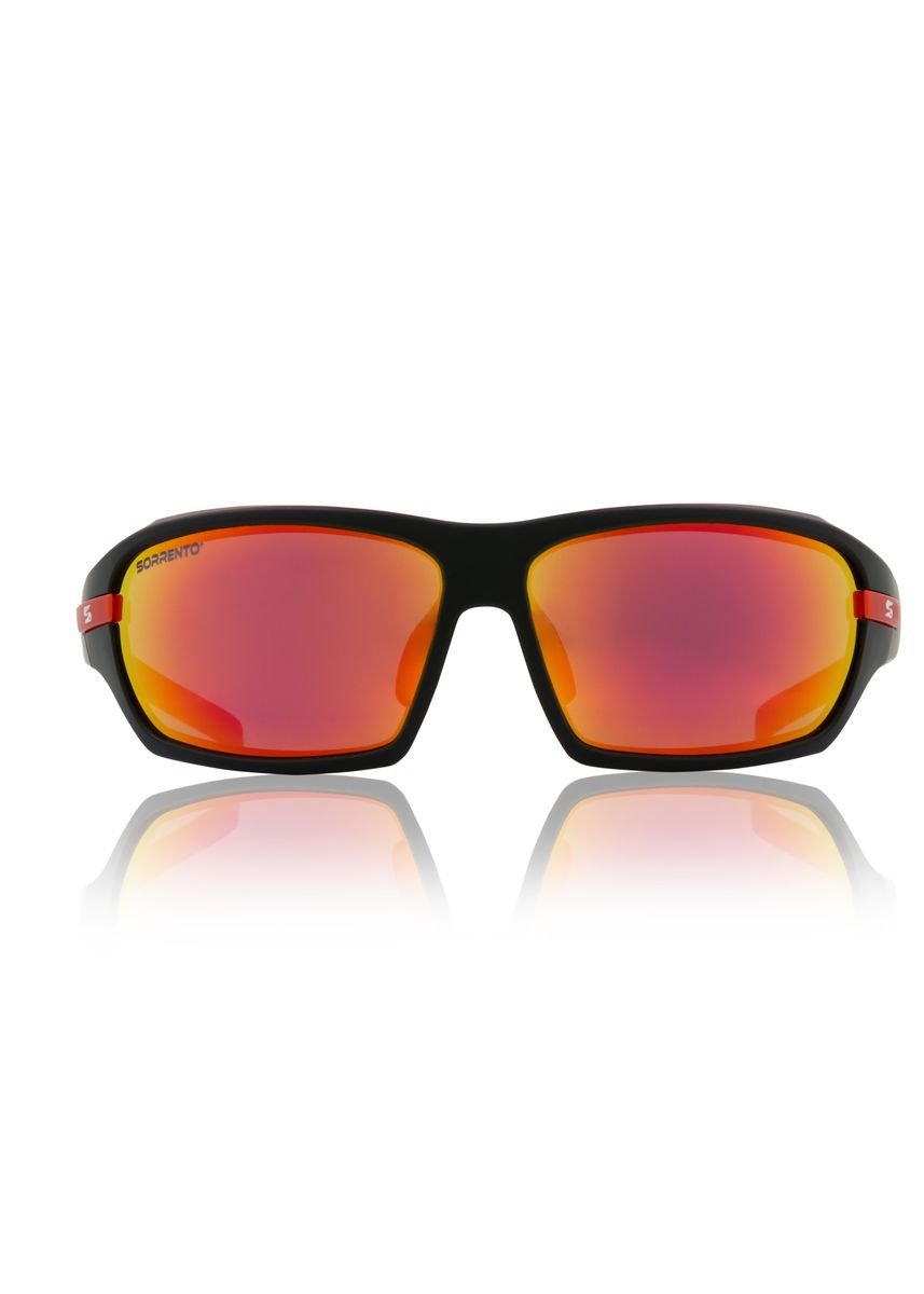 Red color Sunglasses . Sorrento Top Gun Unisex Eyewear -