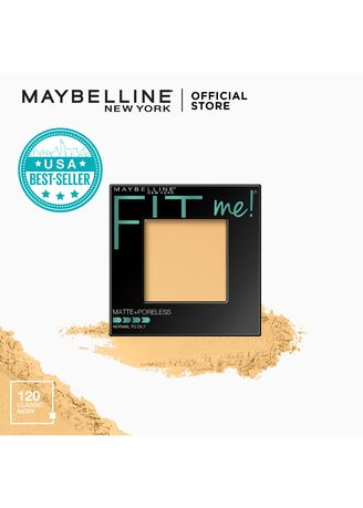 . Maybelline Fit Me Matte + Poreless Pressed Powder - 120 Classic Ivory -