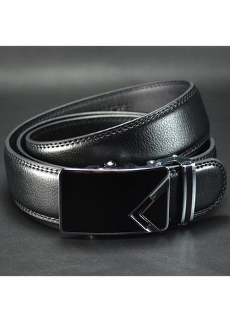 Black color Belts . Business And Leisure Autoatic Buckle Belts Rubber Belt Grinding The -