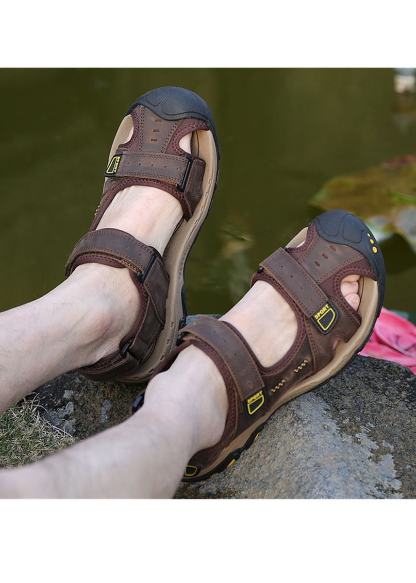 Brown color Sandals and Slippers . Men's Hiking Fisherman Sandal -