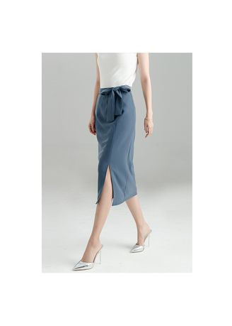 Light Blue color Skirts . butterfly knot and buttock skirt -