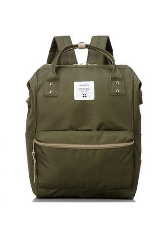 Backpacks . Anello Mouthpiece Rucksack AT-B0193A Polyester Backpack - Green Khaki -