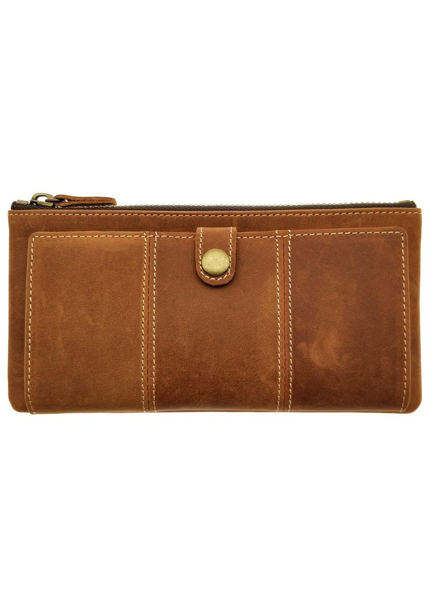 Brown color Wallets . Long Zipper Wallet - Vintage Leather - NJ 8831 -