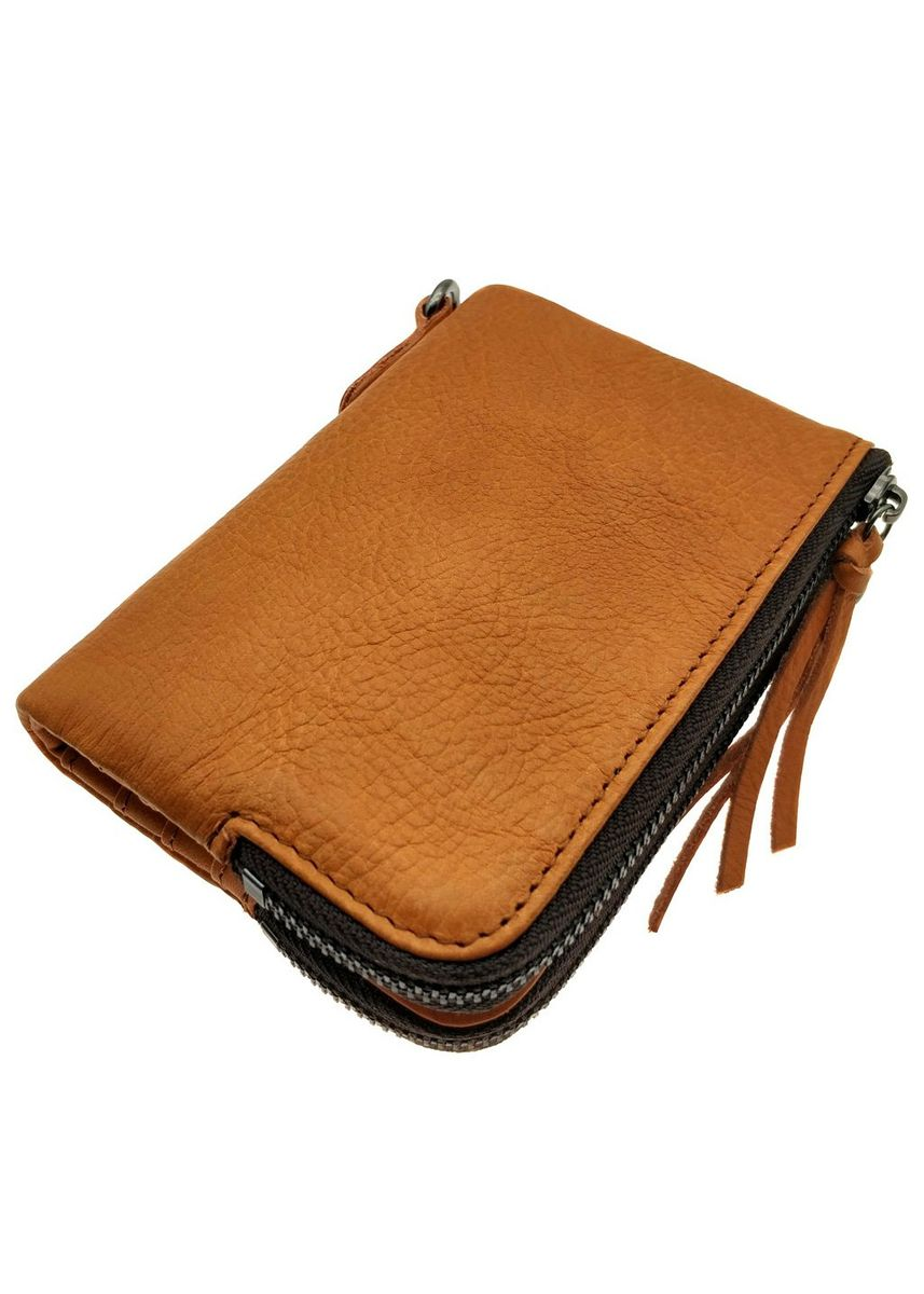 Tan color Wallets . Billfold Multiple Wallet - Natural Leather - NJ 8849 -