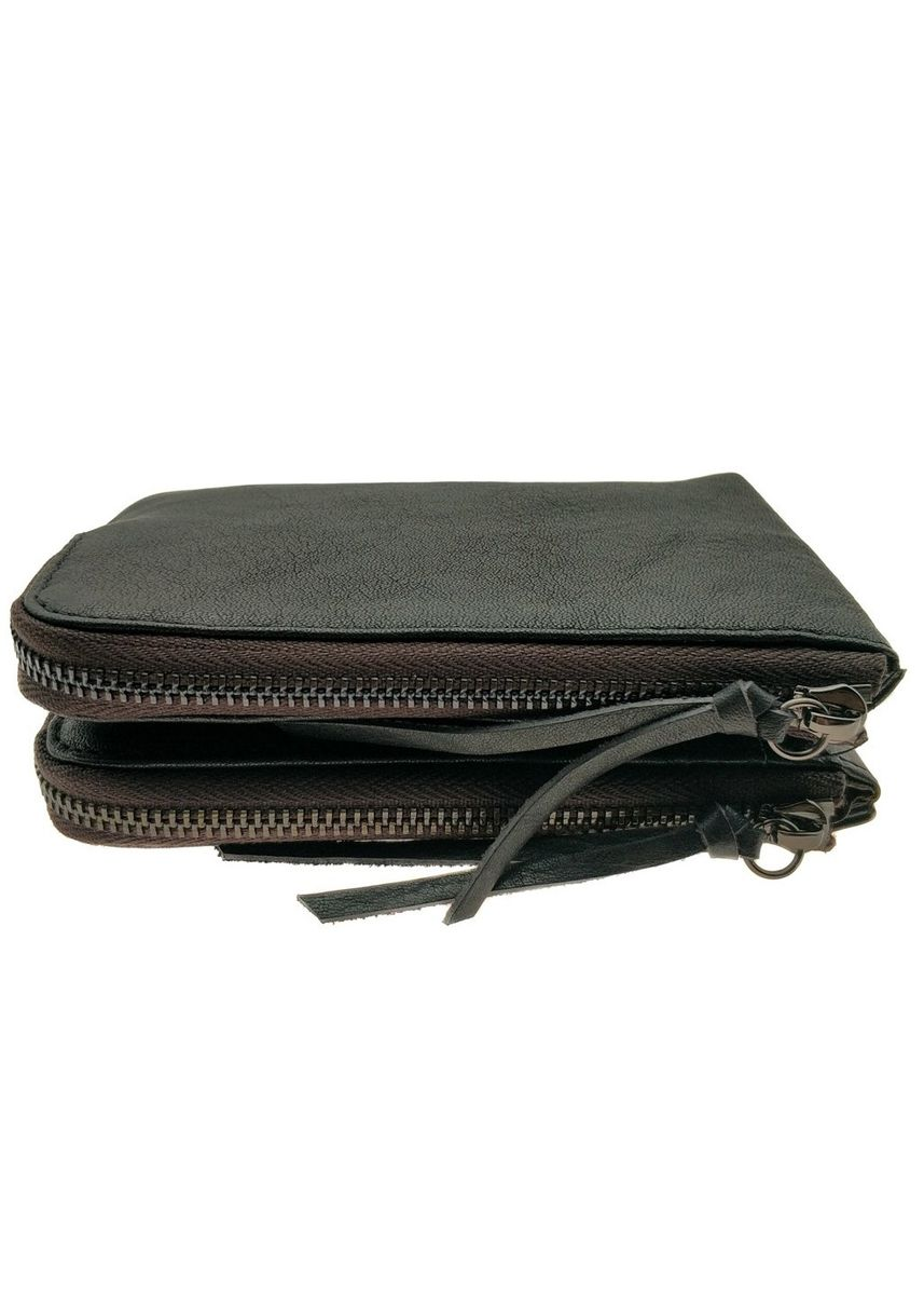 Black color Wallets . Billfold Multiple Wallet - Natural Leather - NJ 8850 -