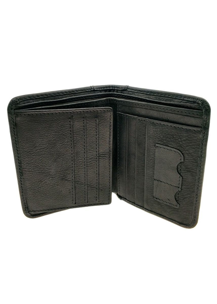 Black color Wallets . Billfold Multiple Wallet - Natural Leather - NJ 8846 -