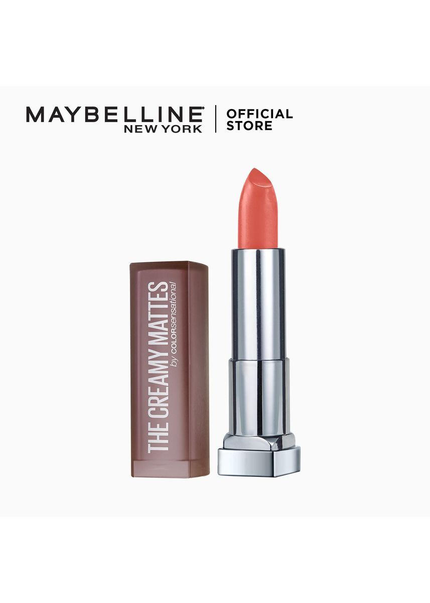 Red color Lips . Creamy Matte Lipstick [New York's #1] by Maybelline Color Sensational(Just A Teaser) -