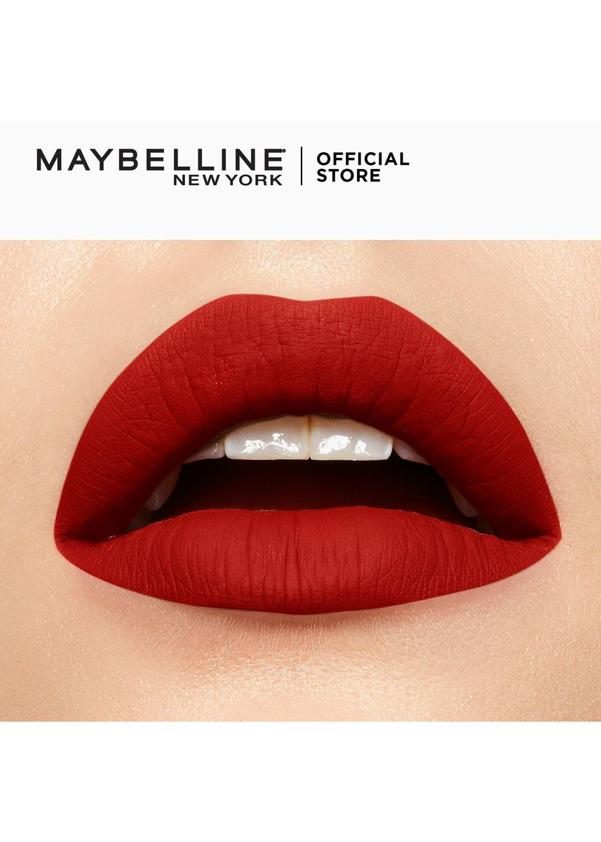 Red color Lips . SuperStay Matte Ink City Edition by Maybelline(Ambitious) -