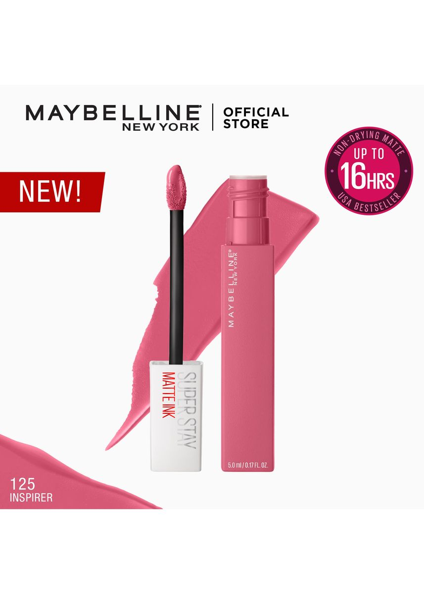 Pink color Lips . SuperStay Matte Ink City Edition by Maybelline(Inspirer) -
