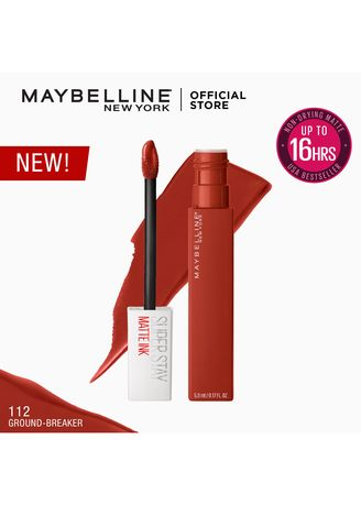 Red color Lips . SuperStay Matte Ink City Edition by Maybelline(Groundbreaker) -