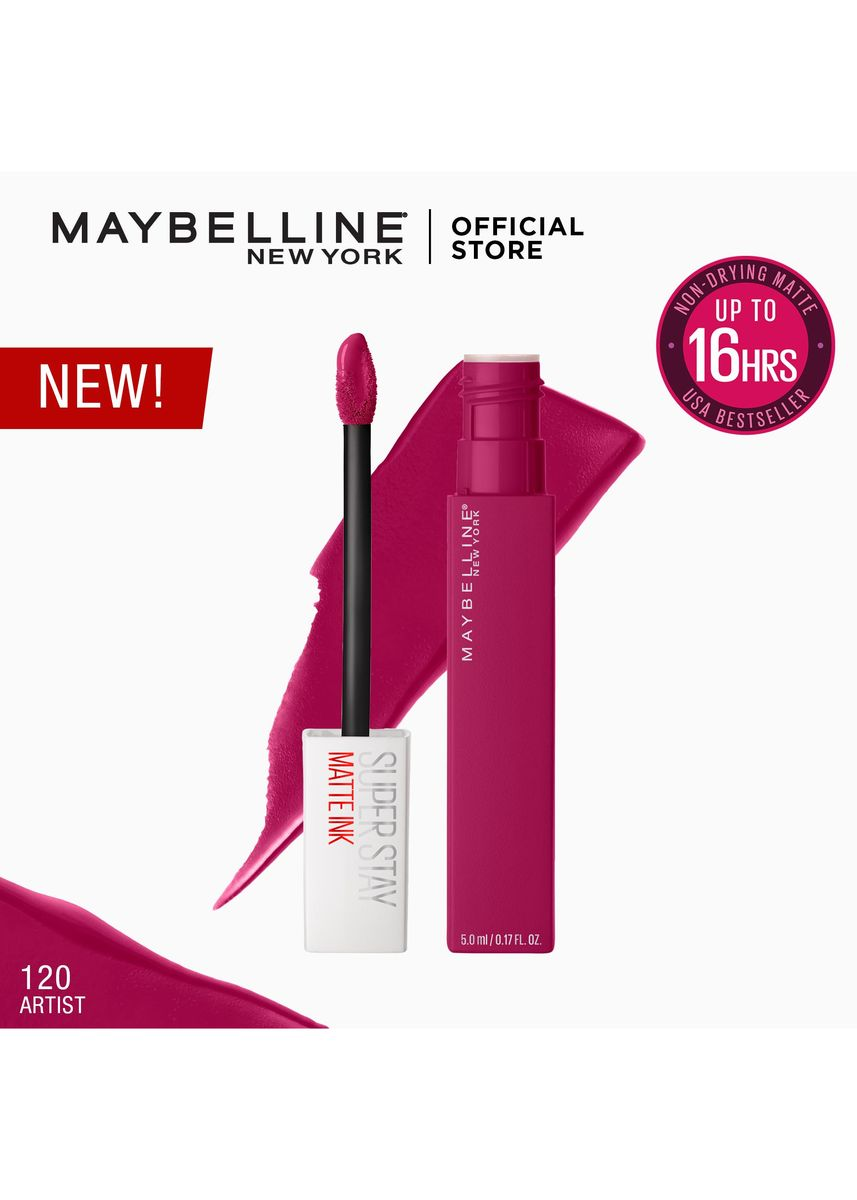 Purple color Lips . SuperStay Matte Ink City Edition by Maybelline Artist -