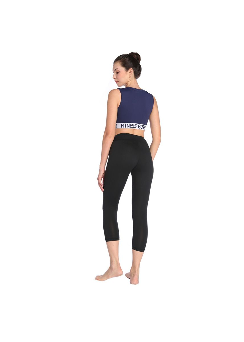 Black color Leggings . Tight Quick-Drying Seven Fitness Yoga Pants -