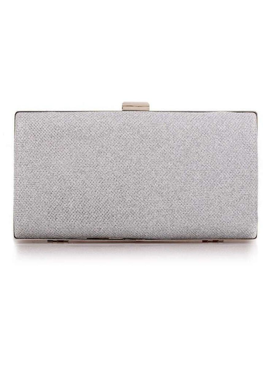 Silver color Wallets and Clutches . ZeeBee Sparkling Clutch Bag -