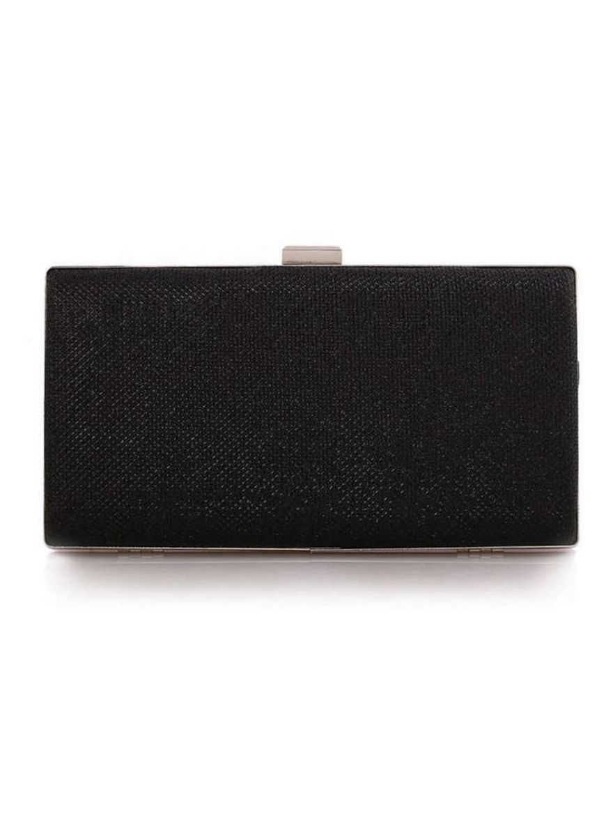 Black color Wallets and Clutches . ZeeBee Sparkling Clutch Bag -