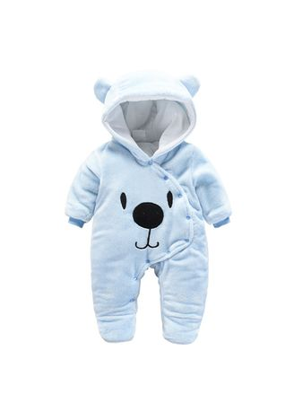 Onesies . Autumn and winter newborn baby onesies solid color button -