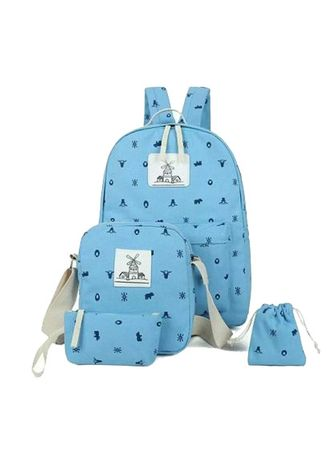 Blue color Backpacks . tas ransel wanita amsterdam  -