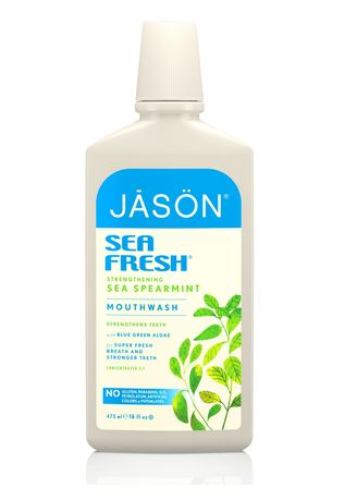 No Color color Personal Care . Jason Sea Fresh Strengthening Sea Spearmint Mouthwash 473ml -