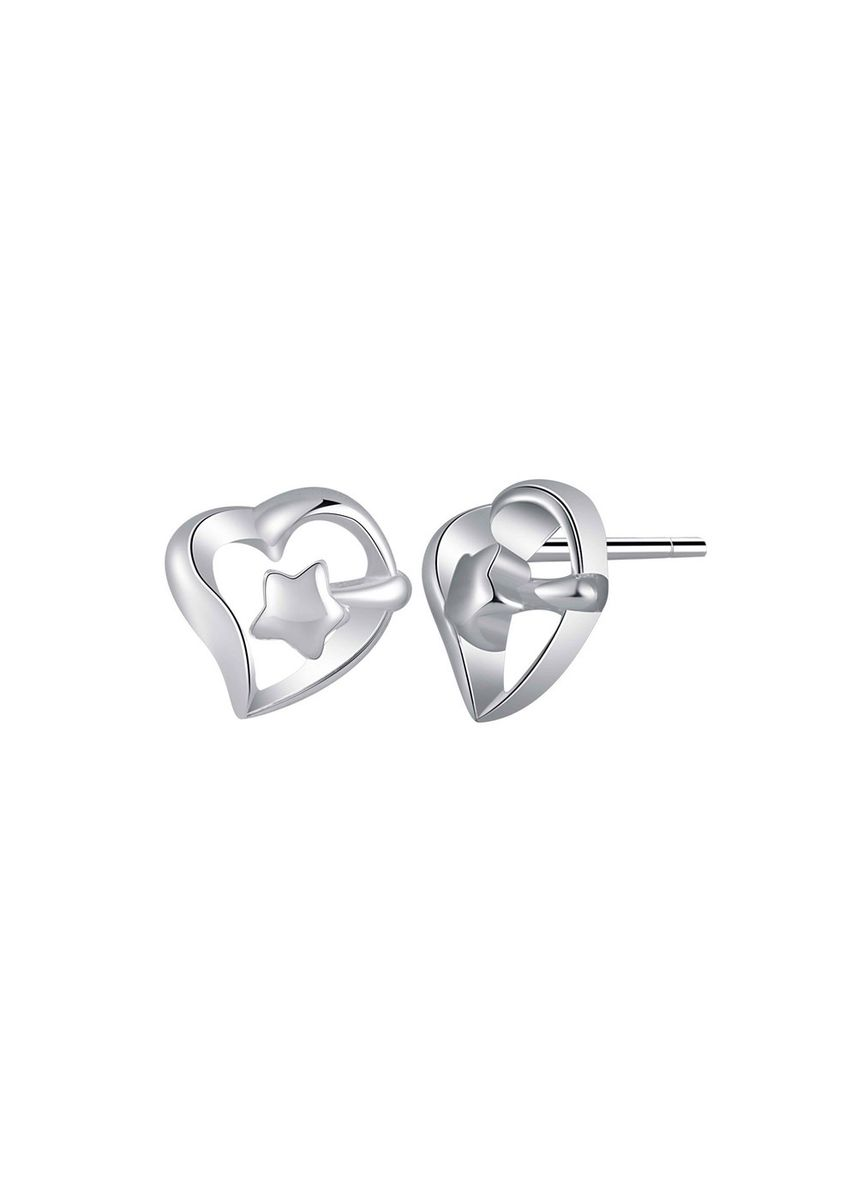 Silver color  . Silver Kingdom Original Italy 92.5 Silver Earrings -