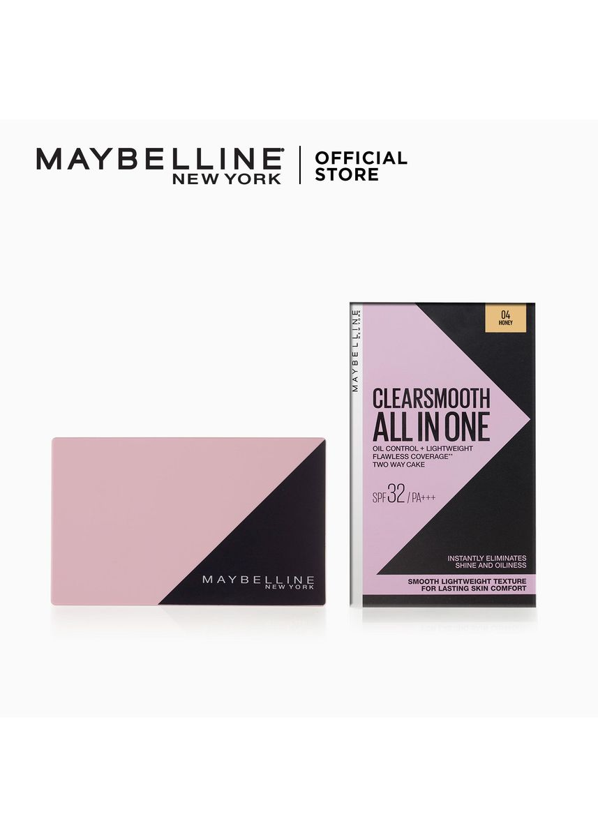 Beige color Face . Clear Smooth All In One Powder Foundation – 04 Honey SPF32 PA+++ [Liza's Powder] by Maybelline -