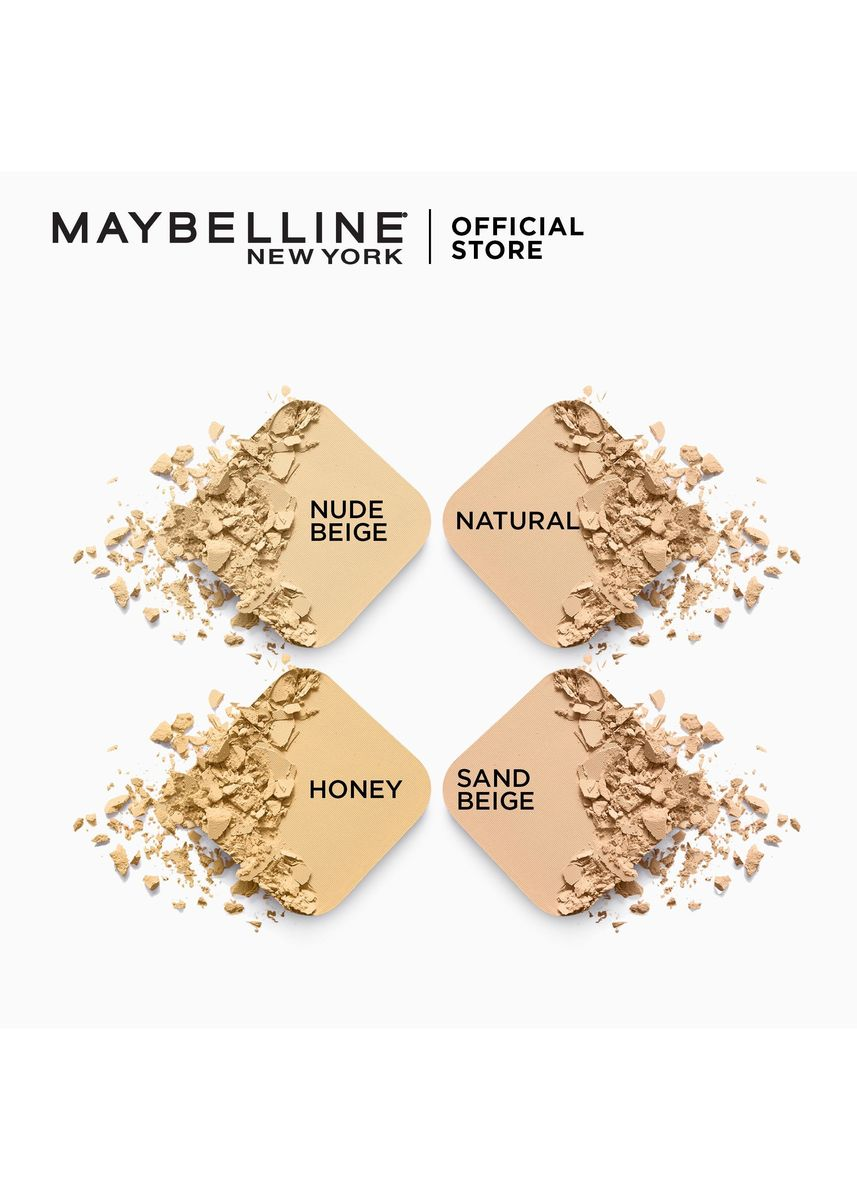 Beige color Face . Clear Smooth All In One Powder Foundation – 05 Sand Beige SPF32 PA+++ [Liza's Powder] by Maybelline -