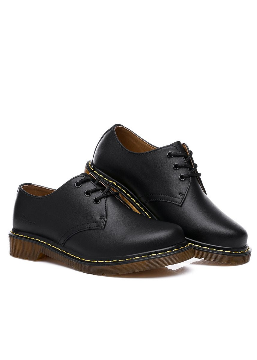 ดำ color บู้ต . Men's Casual Leather Martin Shoes  -