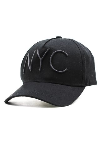 Black color  . Digisoria Unisex Hip Hop NYC Sports Cap -