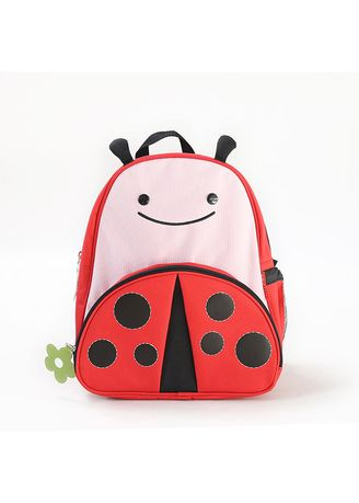 Red color Bags . Children's Backpack Mini Cartoon Pattern -